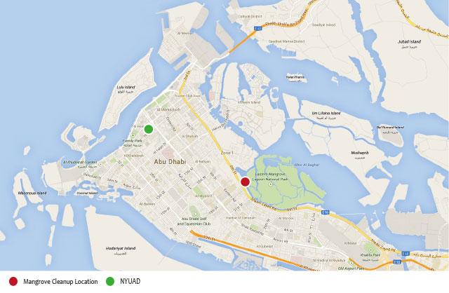 Bu Tinah Island Map